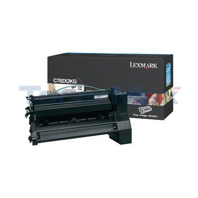 LEXMARK C782 X782 TONER CARTRIDGE BLACK 15K